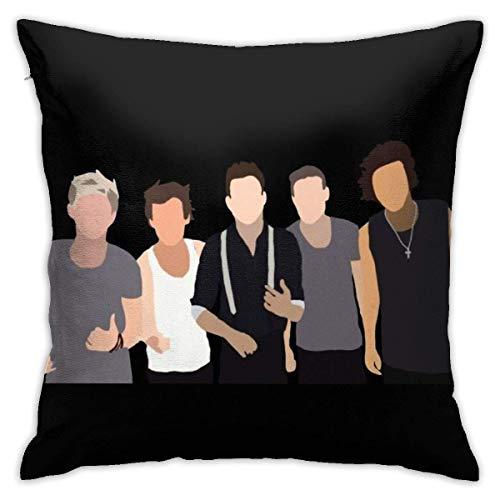 N \ A One Direction - Fundas de almohada sólidas, fundas de almohada para el suelo, fundas de almohada, cojines de sofá, fundas de cojín, fundas de respaldo, cojines de coche, interior de 45 x 45 cm