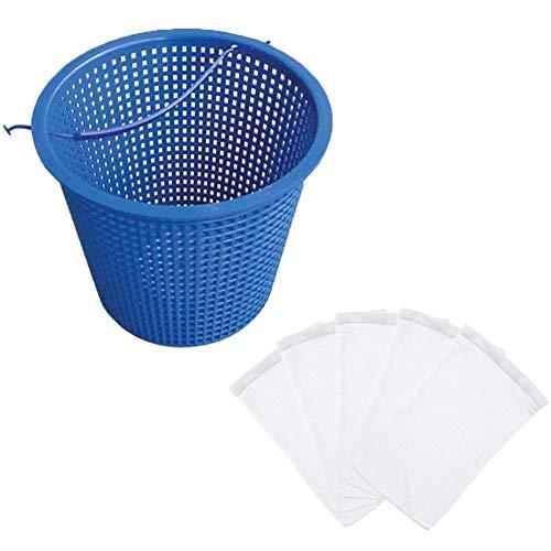 WANWE 5 Piezas/Juego Filtro Calcetines de Almacenamiento de Piscina para Cestas Skimmers Ahorradores Suministros de Piscina Cuidado Diario de la Piscina