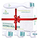 Derma Roller Kit for Face & Body: 0.25mm Length Microneedle Dermaroller Tool - Microneedling Facial Kits with 3...