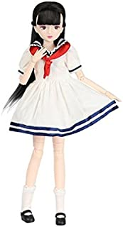 Xiaojing Doll Fortune Days Toys 10 inch Students Series Joint Body bjd Black Hair Including School Uniform Shoes (J1002, 25cm)