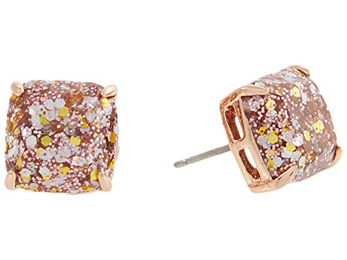 Kate Spade New York Mini Small Square Studs Earrings Rose Gold One Size