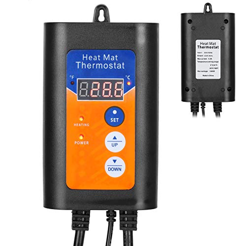 Termorregulador, regulador de temperatura de visualización ° F / ° C, pantalla LCD doméstica precisa para sistemas de plantación de termostatos de calefacción
