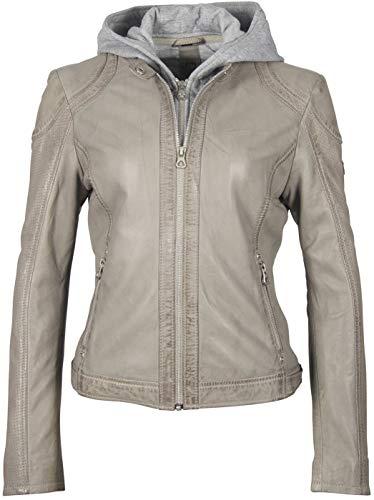 Gipsy GG Aelly Lamas Frauen Lederjacke hellgrau L 100% Leder Basics, Biker, Streetwear