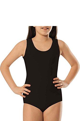 Kinder - Mädchen Body- Achselhemd- Unterhemd - Baumwolle- (NMLD462) (8-10 Jahre, schwarz)