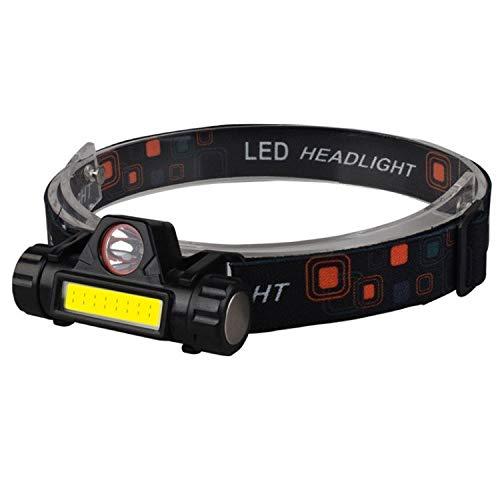 WGLG Faro LED Multifuncional Brillante, Impermeable, imán de Carga USB, luz de Trabajo, Escalada, Auriculares de Pesca