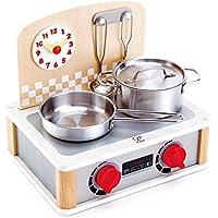 Hape International- Set Cocina y Grill para Cocinitas, Multicolor (E3151)