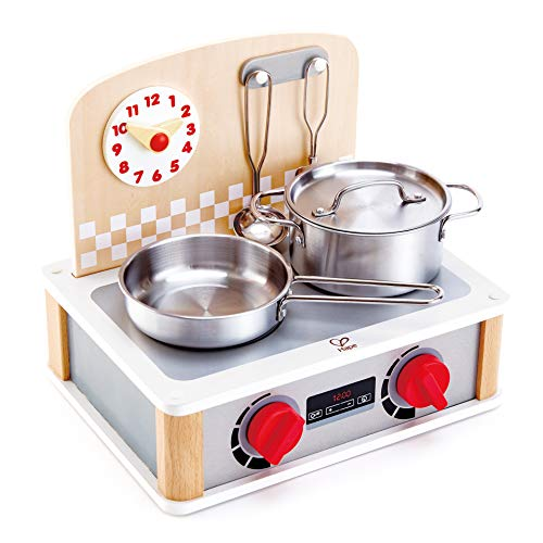 Hape International E3151 2-in-1 Küchen-& Grill-Set, Weiß