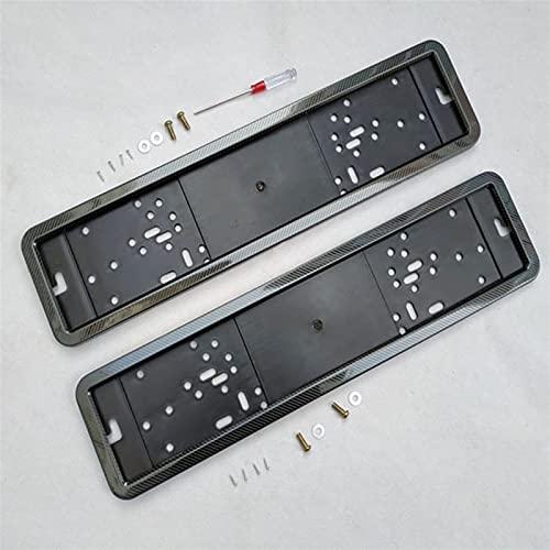 marco de la matrícula para coche, 2pcs placa de matrícula de la placa de la placa de la placa de marco de la placa de la placa de la placa de la placa de la placa de la placa del tornillo de la fibra