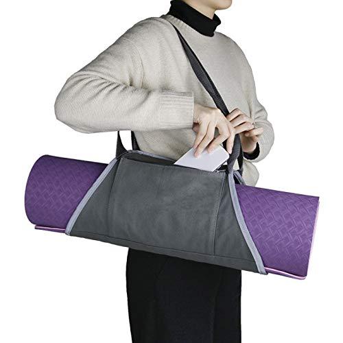YUANZHOU Bolsa de Esterilla de Yoga,Bolsa de Transporte para Esterilla de Yoga,Bolsa de Lona para Esterilla de Yoga,Grey