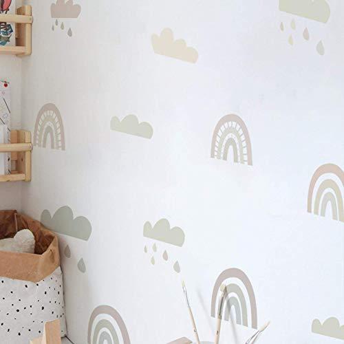 POHOVE 6sheets de Colores Arcoiris Adhesivo Pared Habitación Infantil Salón Clases Decoración Hogar Extraíble Vinilo para Niños Bebé Niña - como Imagen Show, pa186