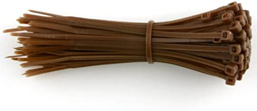 80 x Brown Strong Plastic Nylon Cable Ties 100mm x 2.5mm Wraps Zip Car Auto Garden