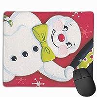 メリークリスマス スノーマン マウスパッド ゲーミング ゲームオフィス 高級感 おしゃれ 防水 耐久性が良い 滑り止めゴム底 適用 マウスの精密度を上がる