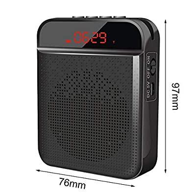 LyhomeO Wireless Voice Amplifier Bluetooth Speaker With Portable Wireless Microphone Headset Rechargeable Voice Enhancer Personal Microphone For Teaching And Guidance, Tour Guides, Etc.