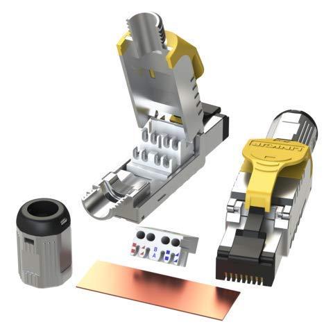 InLine Keystone Porte-modulaire en m/étal /à 2 Compartiments pour Rail de volet