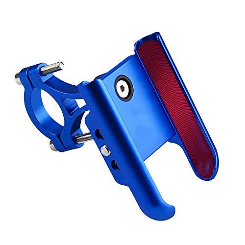 HIOD Soporte de Aluminio para Teléfono de Motocicleta Soporte de Espejo para Teléfono de Bicicleta Soporte Móvil para Manillar de Bicicleta,Blue