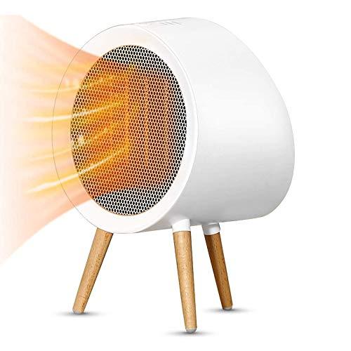 Wgwioo Calentador de Espacio pequeño de Calentamiento rápido, Calentador eléctrico Seguro de cerámica PTC, con protección contra sobrecalentamiento, para Dormitorio de Oficina