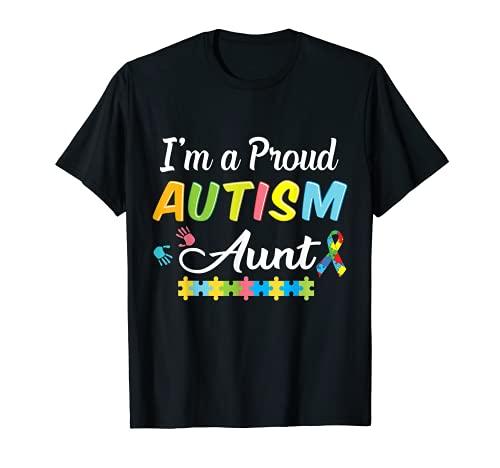 Autismo tía conciencia por soy una orgullosa tía de un guerrero Camiseta