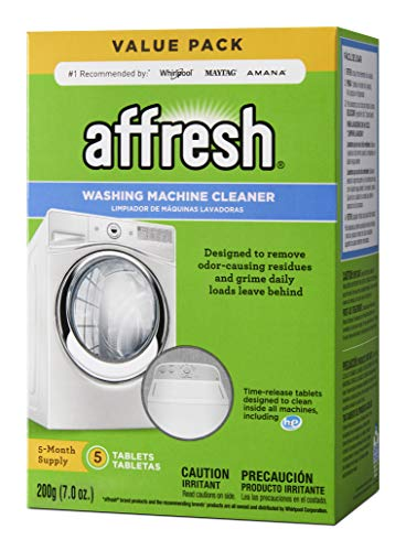 Affresh W10549846 Washing Machine Cleaner, 5 Tablets, White, 5 Count
