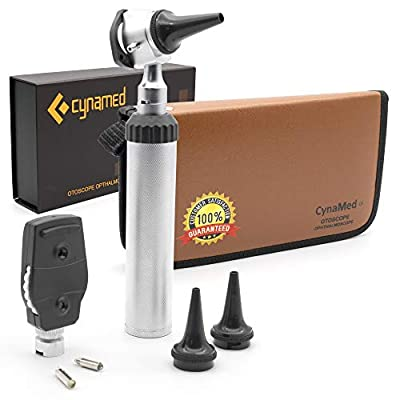 Cynamed Combo Otoscope Set - Multi-Function Ear Scope for Ear, Nose & Eye Examination
