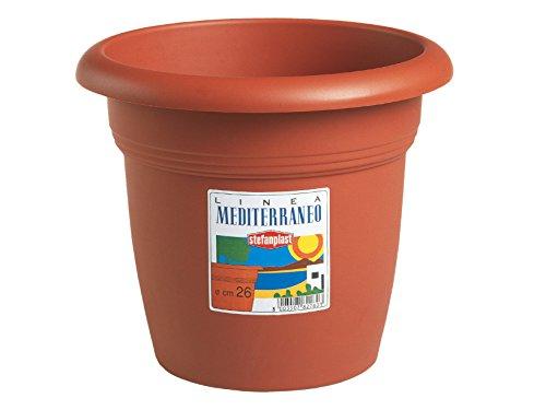Stefanplast 82240 Mediterraneo Vaso, Marrone, 24 cm