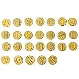 NUOBESTY Punta de Quema de Madera 26 Letras Herramienta de Quema de Madera Punta de Hierro Tallado para Pirograbado Soldadura Trabajo Tallado Relieve Artesanía Bricolaje