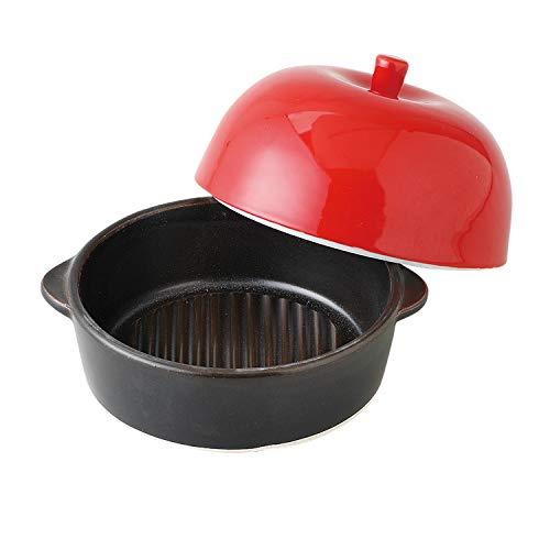 ランチャン(Ranchant) りんご(赤) レッド ボウル14x16x4.5/l蓋Φ14x8(cm) レンジで焼けるくん 有田焼 日本製