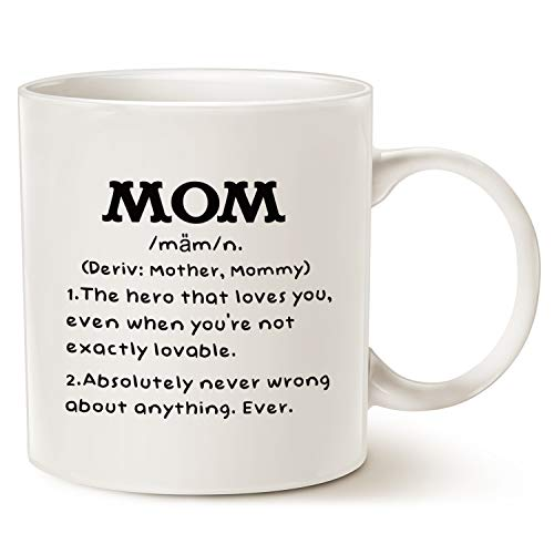 This Might be Wine Mom Definition divertente tazza da caffè, regalo di Natale o di compleanno per mamma tazza in porcellana, 311,8 g, colore: Bianco