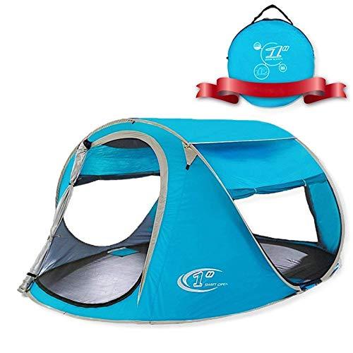 ALLWIN Carpa Emergente,Tienda Playa Impermeable 2 Capas 2-3 Personas Toldo Portátil Protección Solar con Ventilación Avanzada Y Construcción Easy-Pitch Campamentos Y Festivales,Azul
