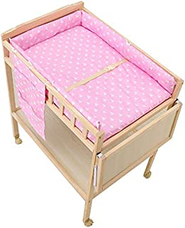 2 in 1 Infant Bath Tub Unit Multigot Baby Changing Table Pink Station Storage Dresser with Lockable Wheels