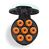 Dash DDM007 Mini Donut Maker Machine for Kid-Friendly Breakfast, Snacks, Desserts & More with Non-stick Surface, Makes 7 Doughnuts, Aqua