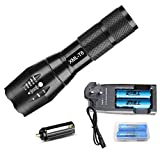 Brand New Dual Charger+ 2X18650 Rechargeable Battery + Zoomable Zoom 5 Modes Flashlight