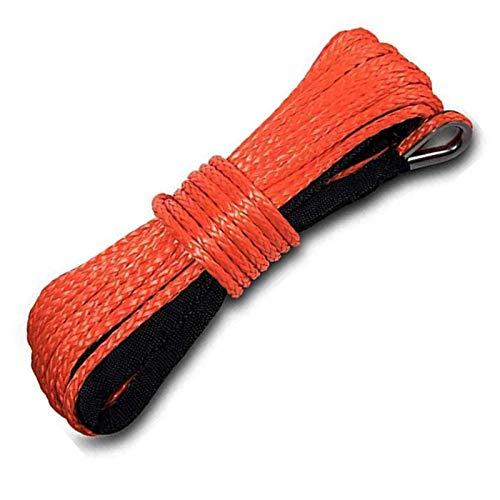 """SIRUL Cuerda sintética para cabrestante, Cable de cabrestante Duradero Cuerda de cabrestante de ATV, para ATV UTV 4x4 Off Road, 8300 Libras de Resistencia a la Rotura,6.5mmx20m (1/4"""" * 65 '"""