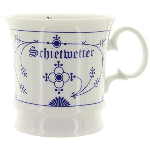Ocean Line Becher Tasse Kaffeebecher Indisch Blau Schietwetter Porzellan 350ml maritim