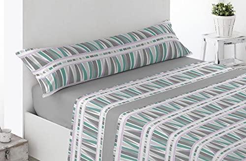 DESING Basics-Confort-Textil SABANAS: Invierno PIRINEO Tacto Polar Juego 3 Piezas Full-VIP (Gris/Multi/VIP, 150_x_190-200_cm)