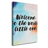 Skydoor J パネル ポスターフレーム Quote Welcome To The World インテリア アートフレーム 額 モダン 壁掛けポスタ アート 壁アート 壁掛け絵画 装飾画 かべ飾り 30×20