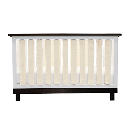 Go Mama Go 24 Piece Pure Safety Vertical Crib Liners, Cream Minky