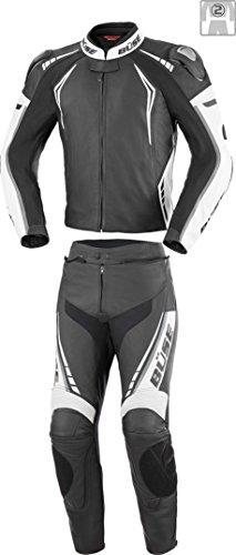 Büse Silverstone Pro 2-Teiler Motorrad Lederkombi 48 Schwarz/Weiß