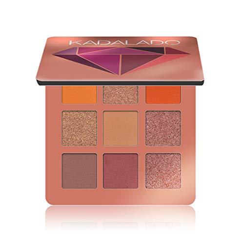 Lidschatten-Palette Make-up matt + schimmer 9 Farben Hochpigmentiertes waterproof, langlebiges...