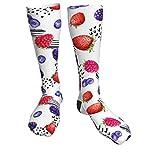 Calcetines divertidos para hombres mujeres jugosa baya frambuesa novedad tripulación calcetines casuales...