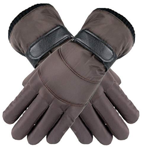 Touch Gloves Touchscreen Handschuhe Herren Damen Winter Daunen Baumwolle Fingerhandschuhe Anti-Rutsch Wasserdichte Winddicht Winterhandschuhe Casual Outdoor Sports Fäustlinge Kaffee