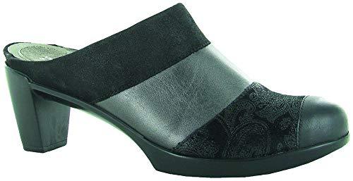 NAOT Footwear Women's Fortuna Clog Heel Black Combo 7.5 M US