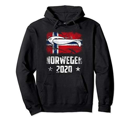 Angeln in Norwegen 2020 Jighead Angler Norway Angelteam Pullover Hoodie