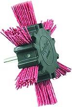 TIVOLY XT20222000782 - Cepillo ABANICO para taladro, hilo nylon rojo,decapado de madera diametro 100 mm grano 80