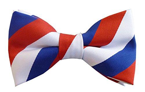 Great British Tie Club Drapeau Français Nœud papillon - Bleu, Blanc et Rouge