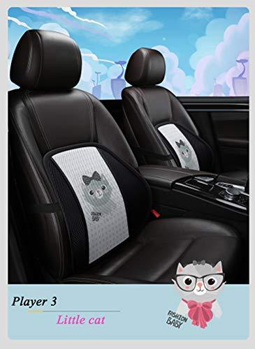 Lendensteun, rugleuning van autogaas met massagekralen Ergonomisch Ontworpen voor comfort en pijn in de onderrug - Lendensteunkussen voor autostoel, bureaustoel, rolstoel (kleine kat)