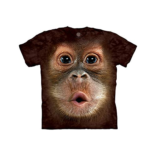 The Mountain Unisex Kinder Gr. M Orang Utan Baby Gesicht T Shirt