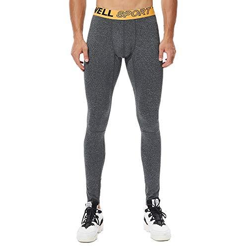 Leggings Herren Blau,ITISME Atmungsaktive Herren Yoga Fitness Brief Gedruckt Lange Patchwork-Sporthose Sport Tights UnterwäSche Strumpfhose Pants Lang