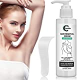 Grocerism Hair Removal Cream, Painless Natural Depilatory Cream for Men and Women, Non-Irritating for Sensitive Skin. For Bikini and Intimate Area, Genitals, Arms, Legs, Underarms, Chest, 5.07 fl oz…