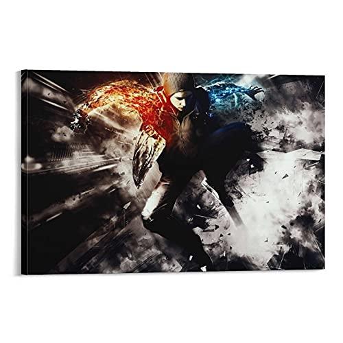 Xianbang Infamous Second Son su tela e stampa artistica da parete, 60 x 90 cm