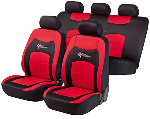Car seat covers fit Kia CEE/'D black//red  leatherette full set